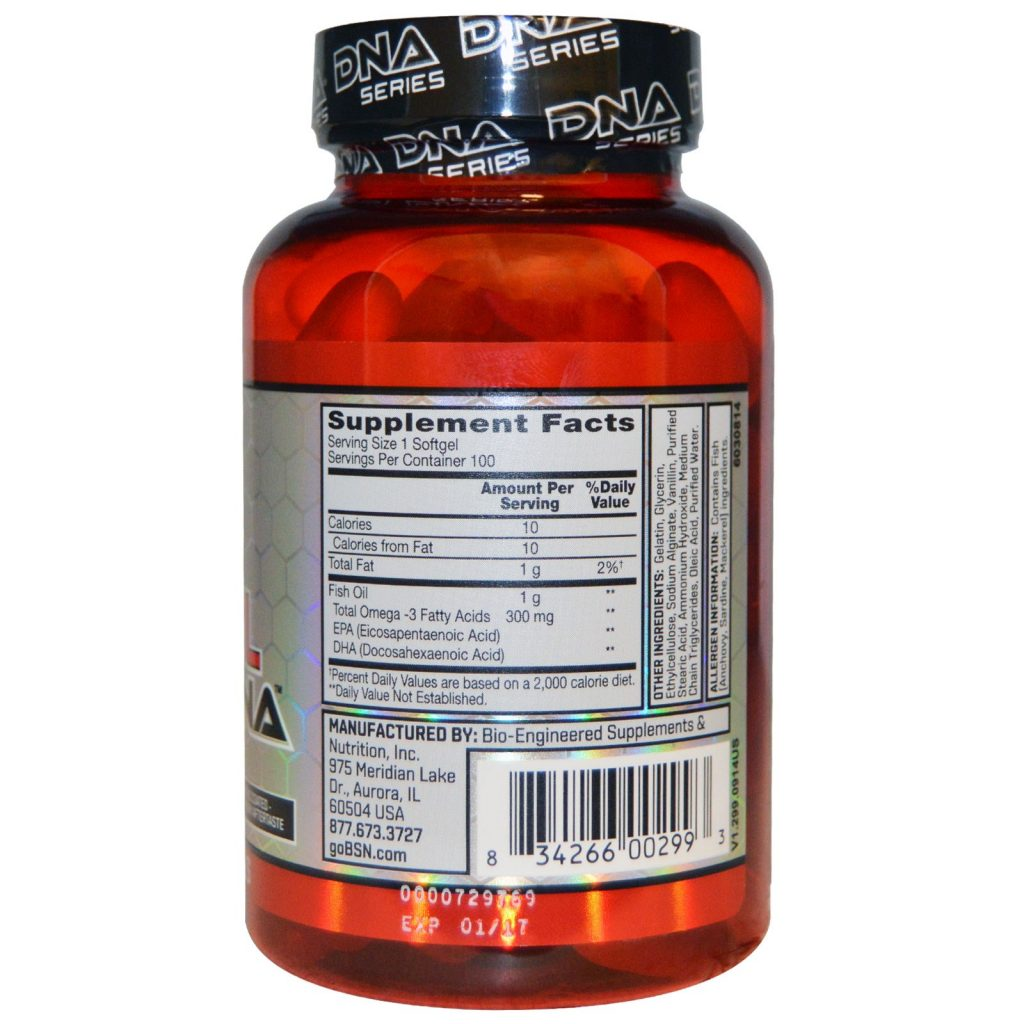 BSN Fish Oil DNA Cardiovascular Support