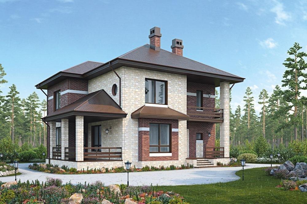 дом, облицованный сайдингом