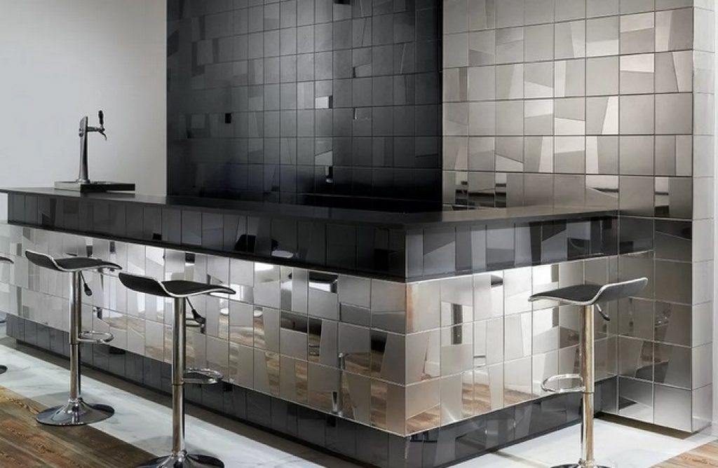 Фартук на кухне в стиле хайтек