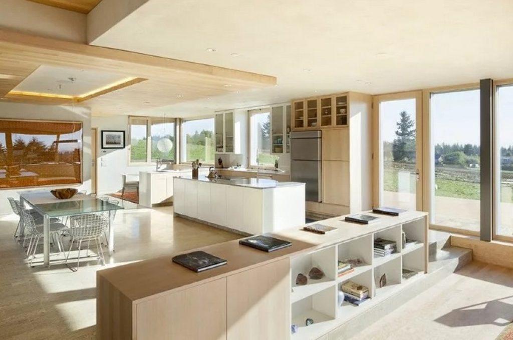 кухня-гостиная открытой планировки