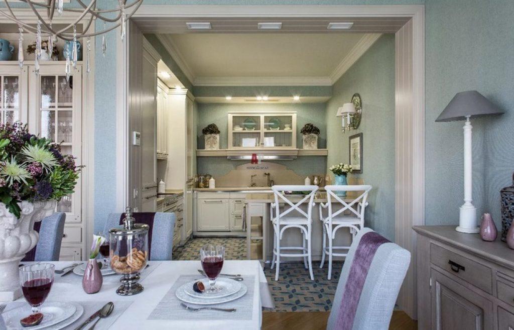 кухня-гостиная прованс