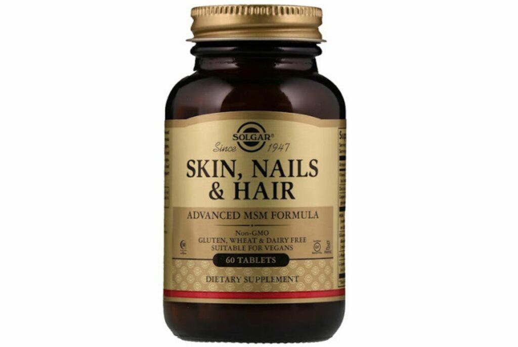 Solgar Skin, Nails & Hair улучшенная формула с метилсульфонилметаном. Лучшие витамины для волос и ногтей и кожи