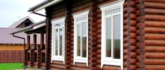 Особенности установки окон при строительстве деревянных домов
