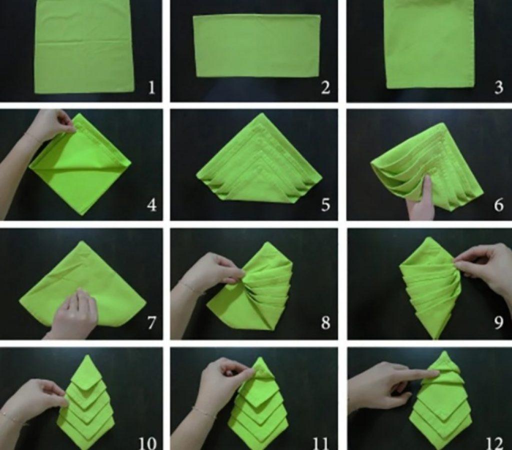 как сложить салфетки для сервировки